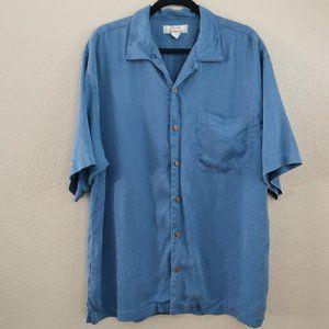 3/$30 TOMMY BAHAMA Men's L 100% Silk Shirt
